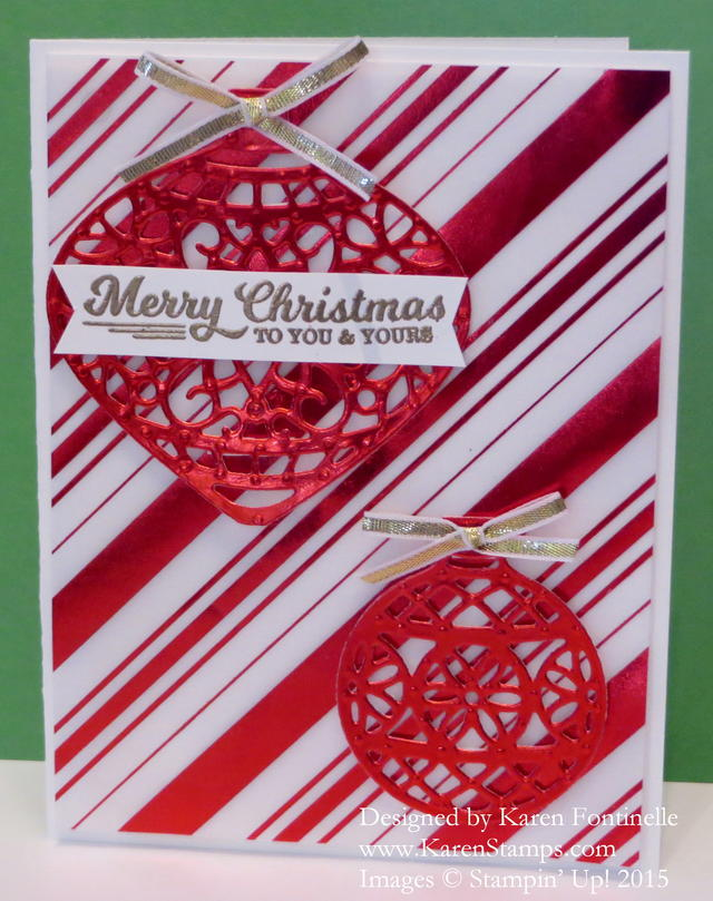Delicate Ornaments Christmas Card