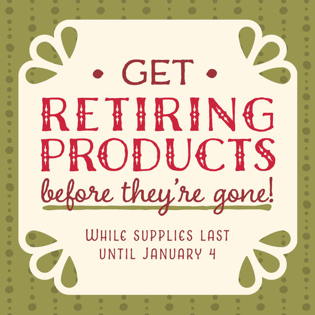 Holiday Catalog Retiring Products