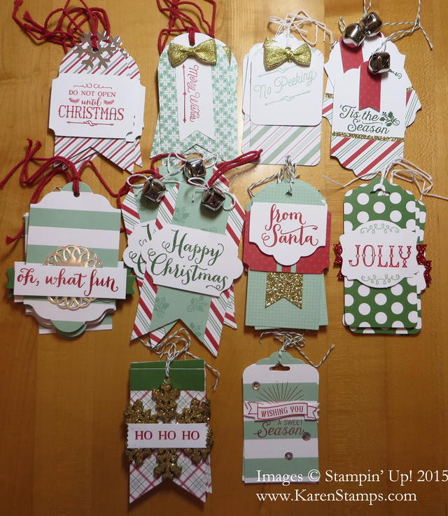 Oh What Fun Tag Project Kit Tags Finished