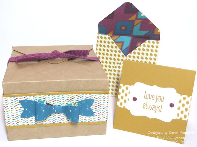 Online Extravaganza Bohemian Paper Gift Box Card Envelope