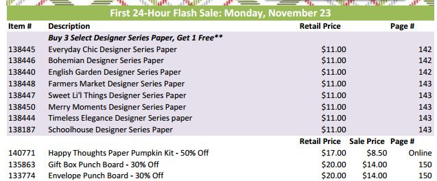 Online Extravaganza Flash Sale Mon Nov 23