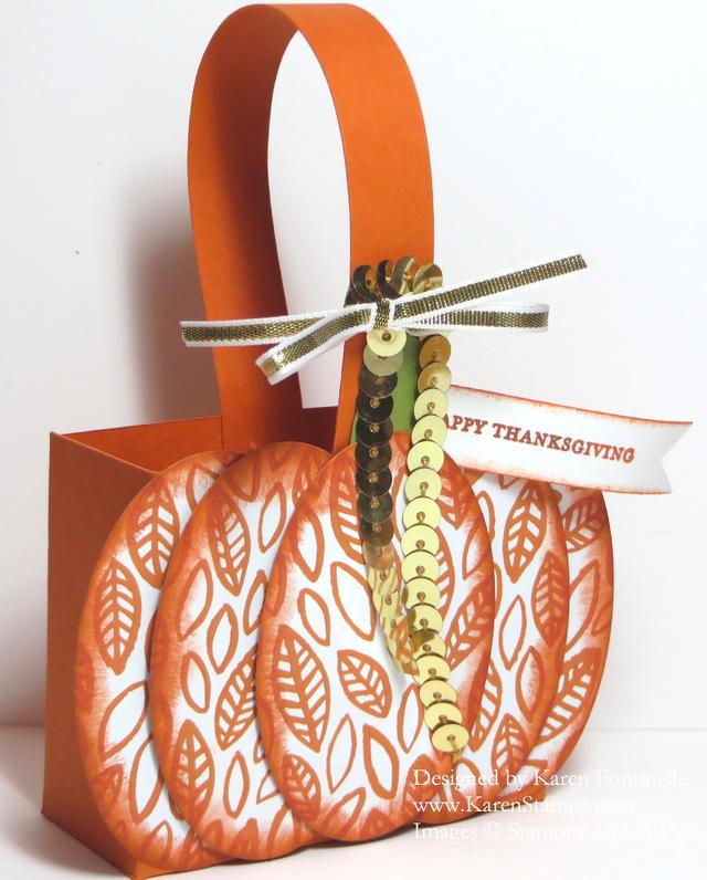 Embellished Pumpkin Box