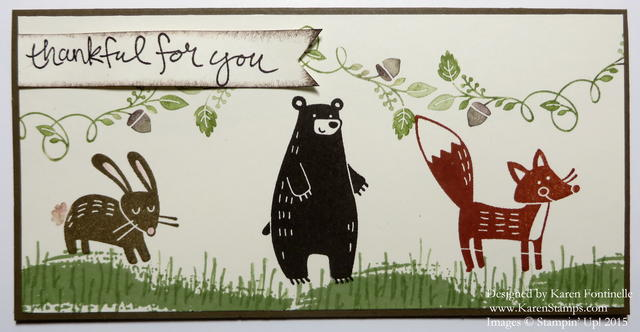 Thankful Forest Friends Animals Card