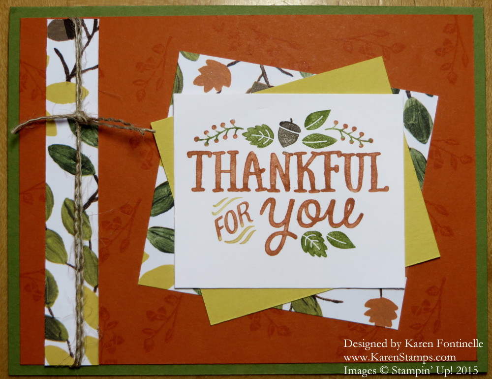 thankful forest friends thankful for you card stamping with karen