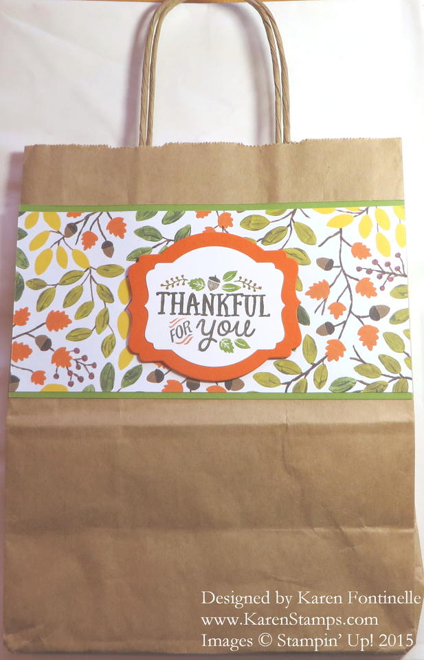 Thankful Friends Thanksgiving Gift Bag