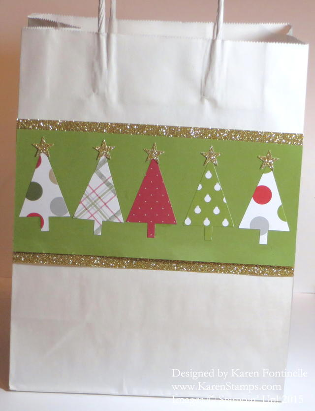 Easy Christmas Tree Punch Gift Bag