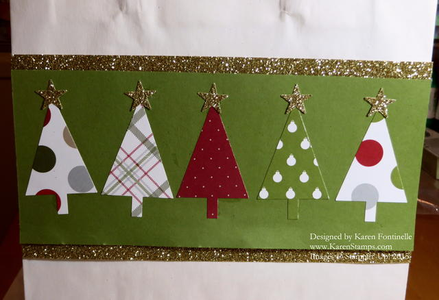 Easy Christmas Gift Bag Trim