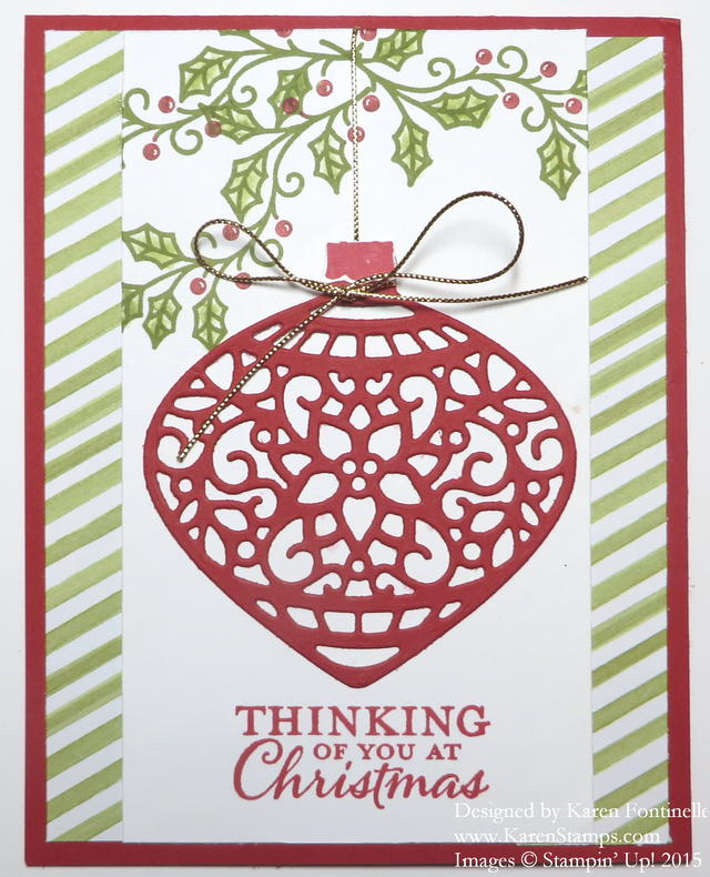 Embellished Ornament Christmas Card