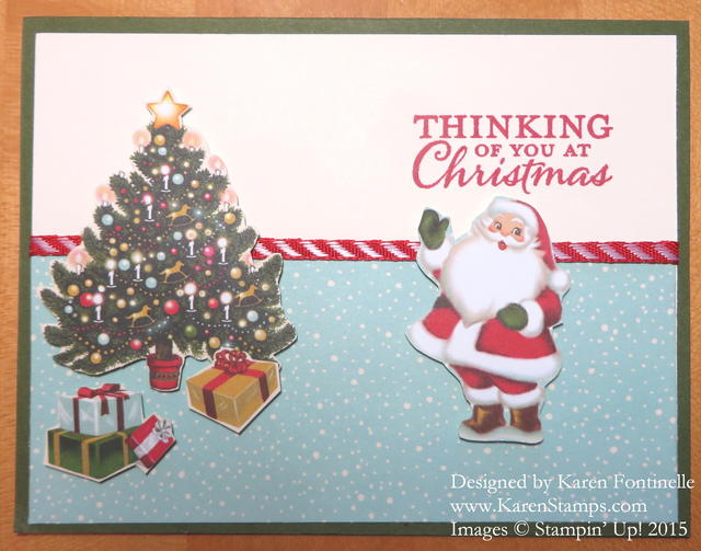 Home For Christmas Santa and Tree Card