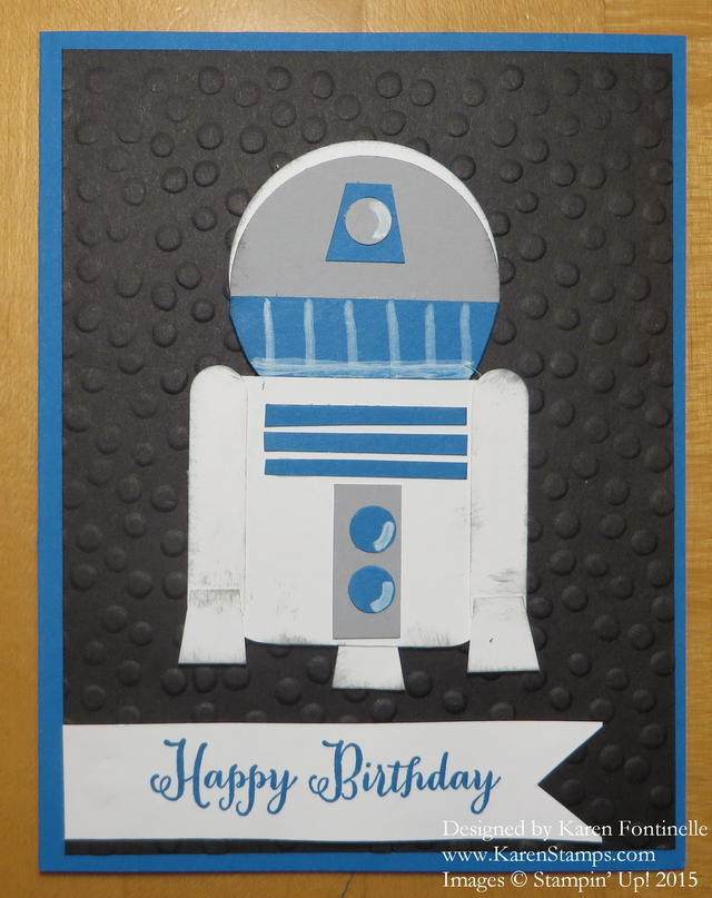 Star Wars R2D2 Punch Art Birthday Card