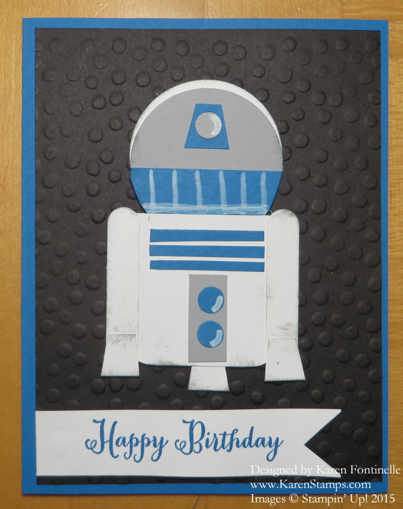 Star wars r2d2 punch art birthday card stamping with karen star wars r2d2 punch art birthday card bookmarktalkfo Choice Image
