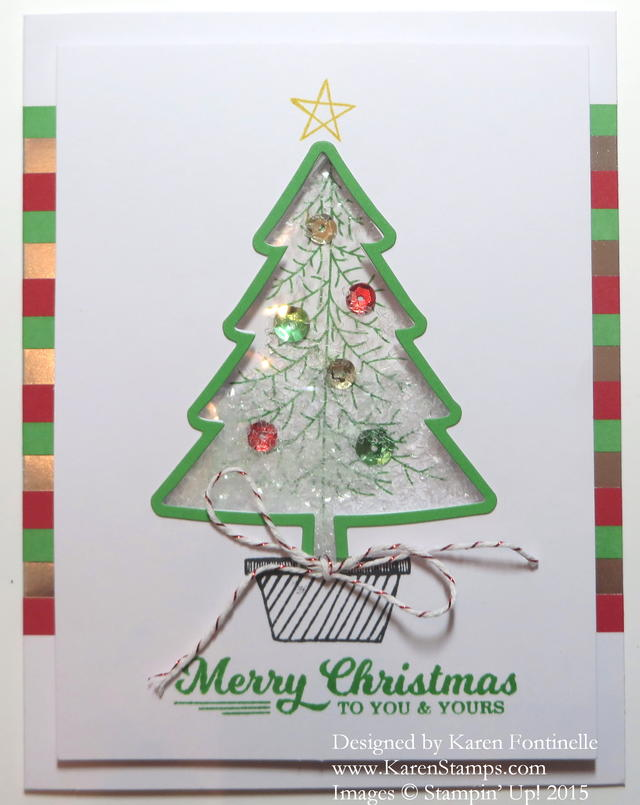 To You & Yours Tree Shaker Card