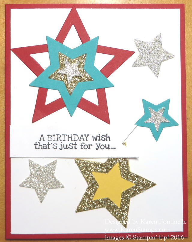 Birthday Card with Stars