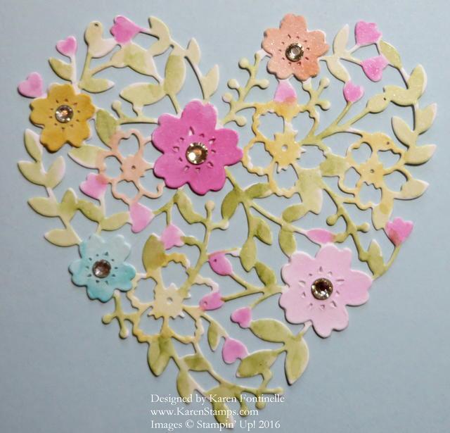 Bloomin' Heart Thinlit Closeup