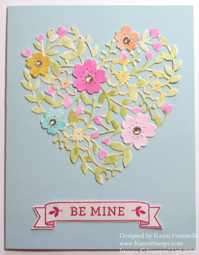 Bloomin' Heart Thinlit Valentine Card