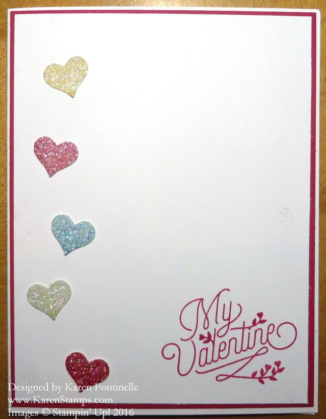 Bloomin' Love Small Glimmer Hearts Valentine