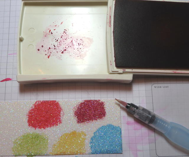 Coloring Glimmer Paper