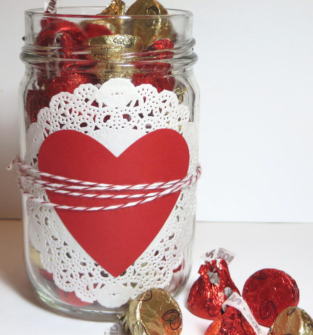 Easy Valentine Candy Jar