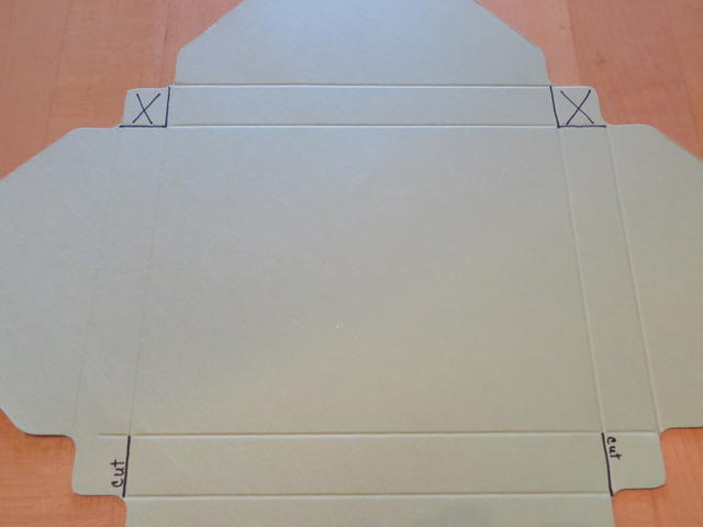 Envelope Punch Board Card Box Cuts