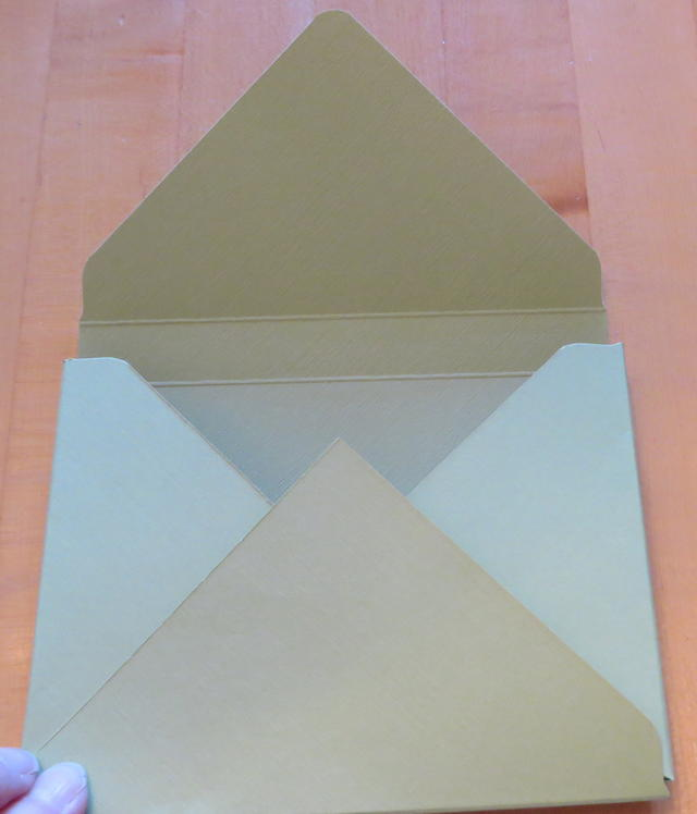 Envelope Punch Board Card Box Folded