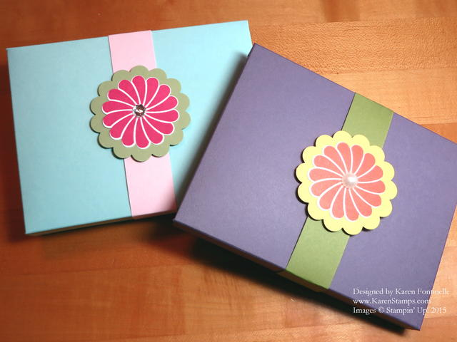 Envelope Punch Board Card Boxes