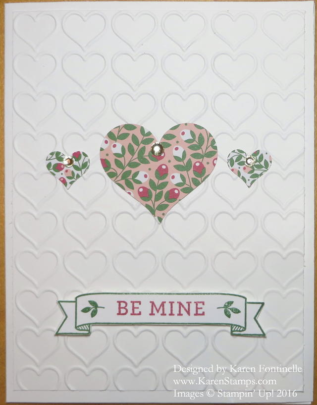 Love Blossoms Heart Valentine Card
