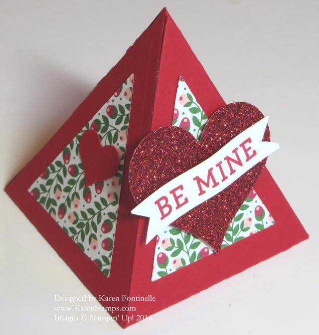 Pyramid Pals Valentine Treat Box