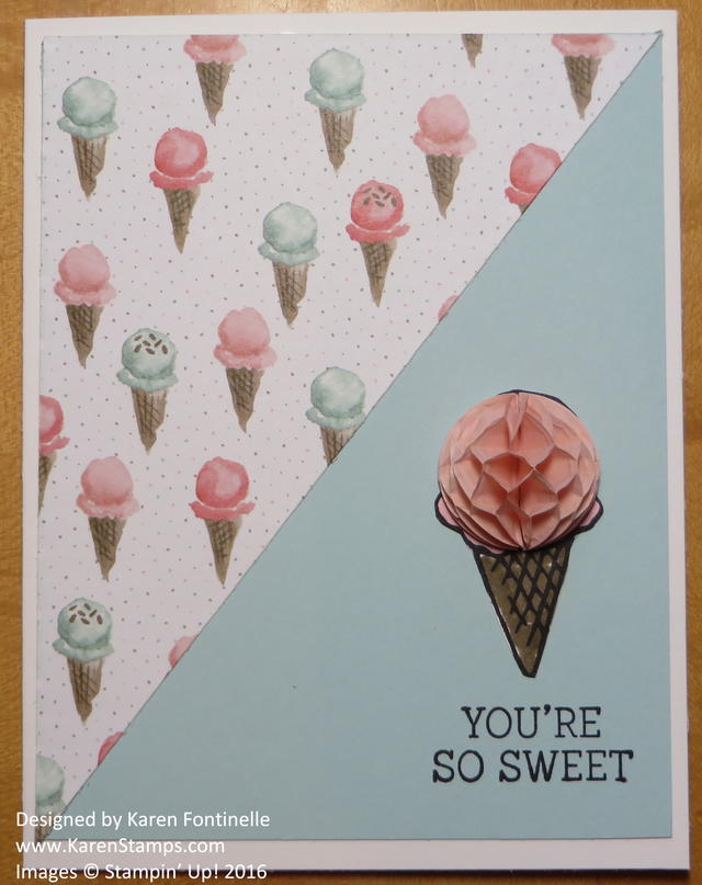 Birthday Bouquet Ice Cream Cone Card