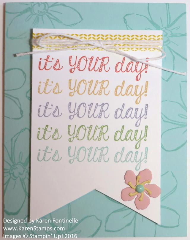 Fabulous Four It's Your Day Card Idea