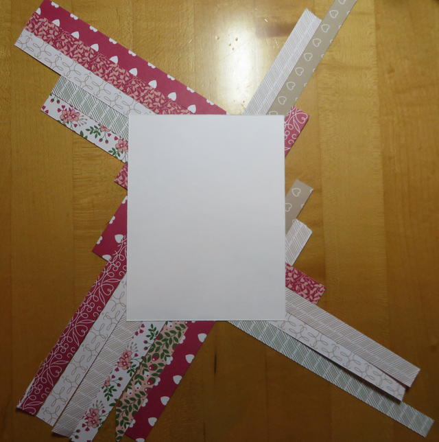 Paper Strip Quilt Valentine Card Back