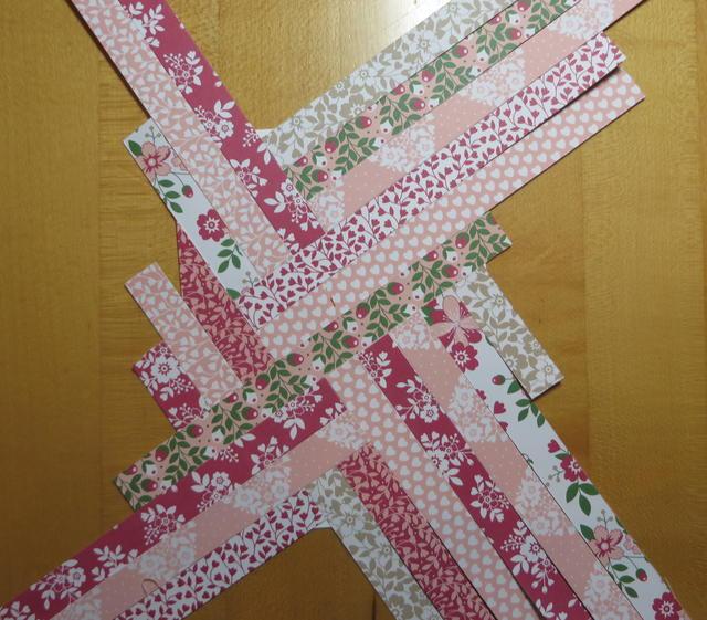 Paper Strip Quilt Valentine Card Front