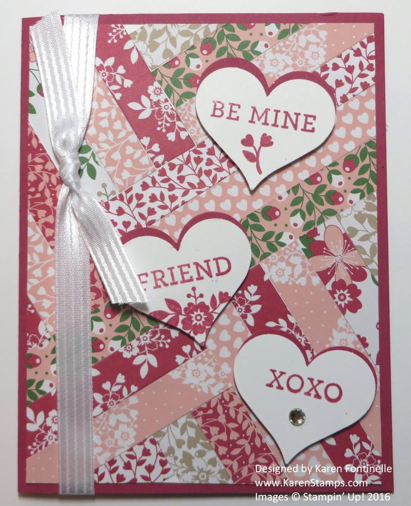 Paper Strip Quilt Valentine Card For Valentine S Day