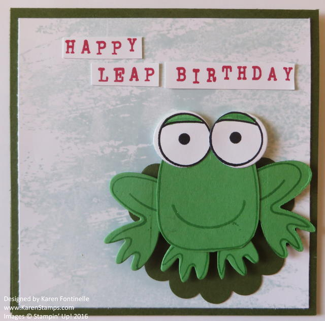 Playful Pals Frog Leap Year Birthday Card