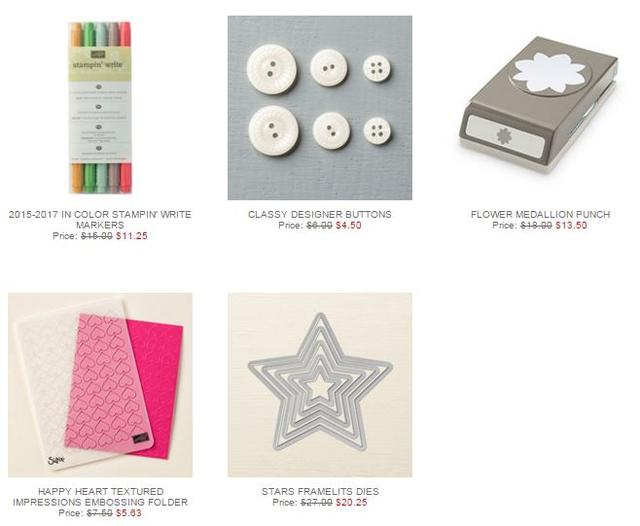 Stampin' Up! Weekly Deal Feb 23 2016