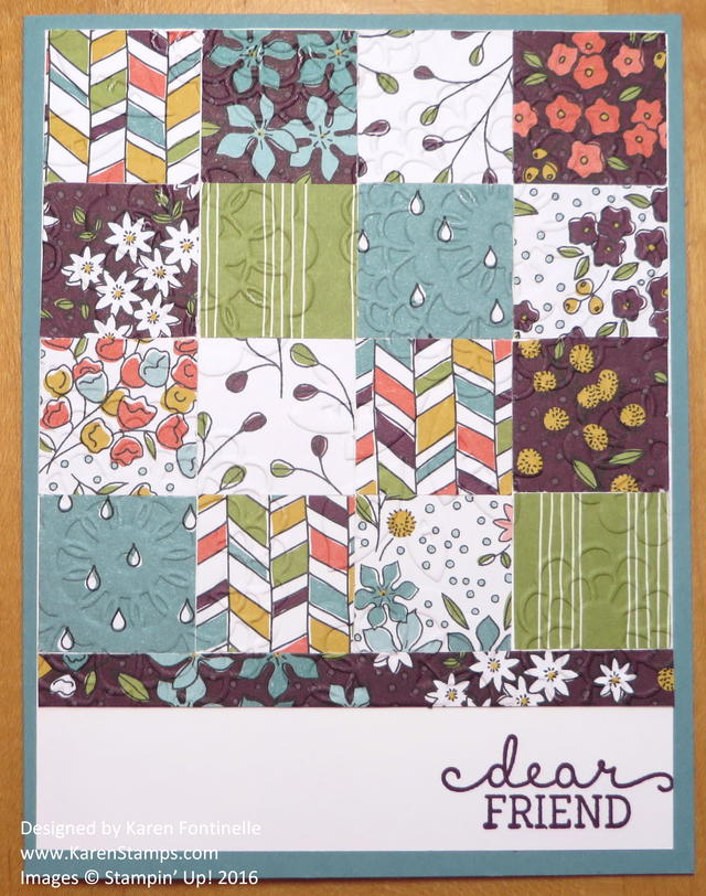 A Paper Quilt Card for National Quilting Day 2016