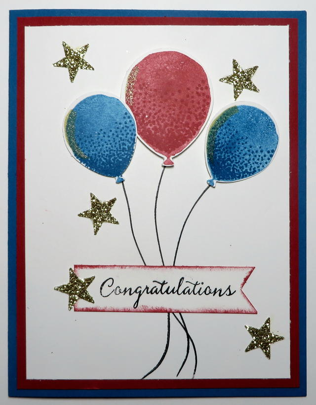 Balloon Celebration Congratulations Card
