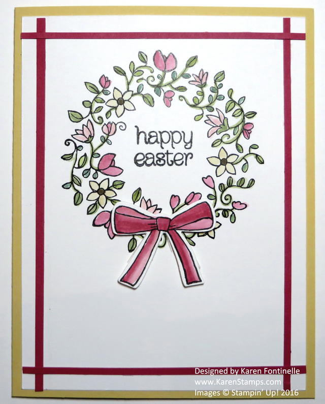 Circle of Spring Wreath Easter Card