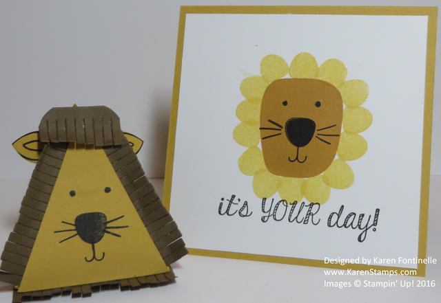 March Comes in Like a Lion Playful Pals Card and Pyramid Box