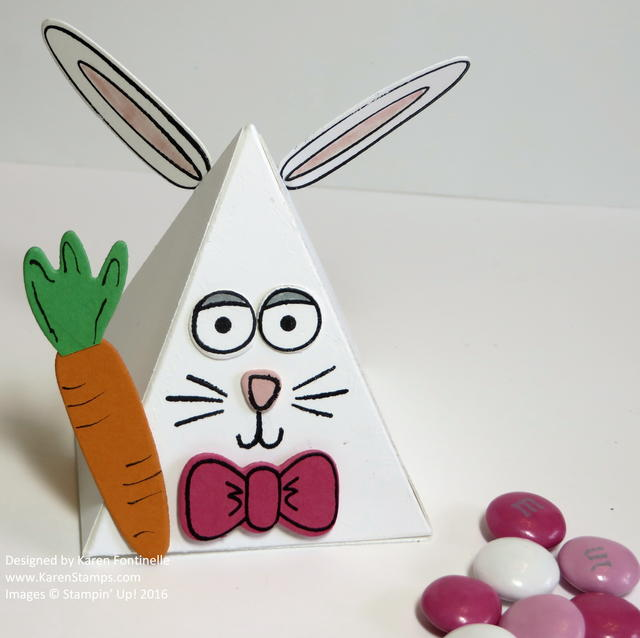 Playful Pals Easter Bunny Pyramid Treat Box
