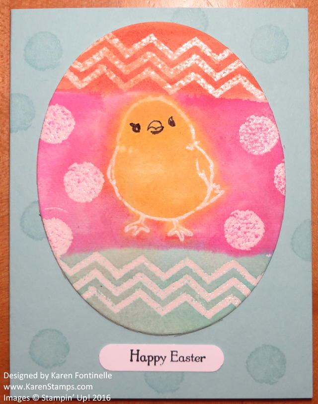 Watercolored Egg Easter Card