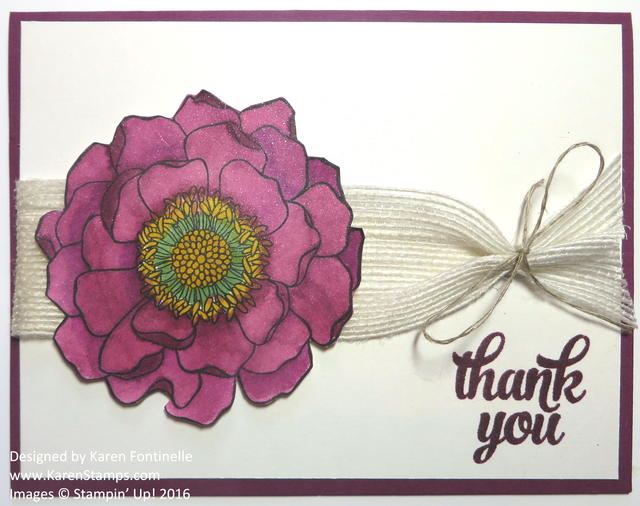 Blended Bloom Shimmery Thank You Card