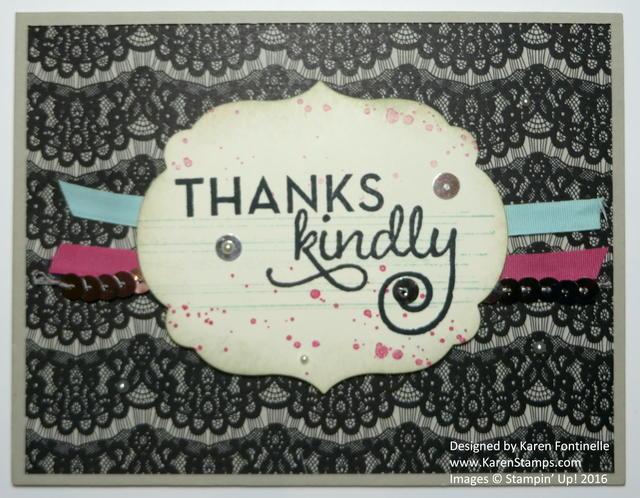 Gorgeous Grunge Timeless Elegance Thank You Card