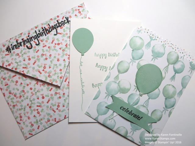 Mini Treat Bag Thinlits Balloon Birthday Card with Envelope