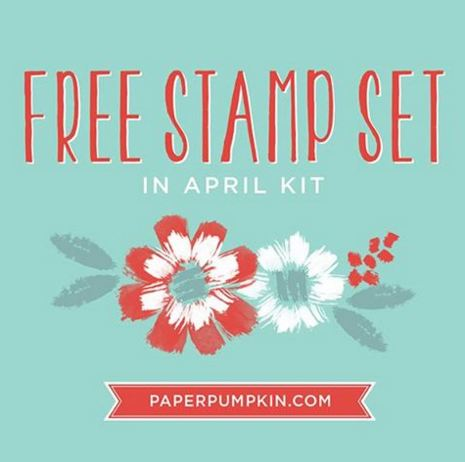 Paper Pumpkin Free Stamp Set April 2016