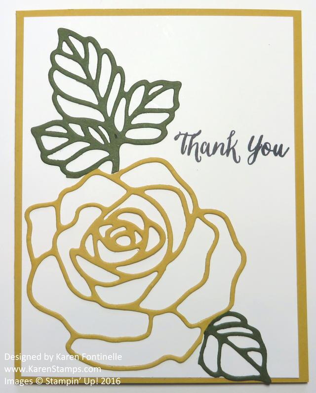 Rose Garden Thinlits Flower Card