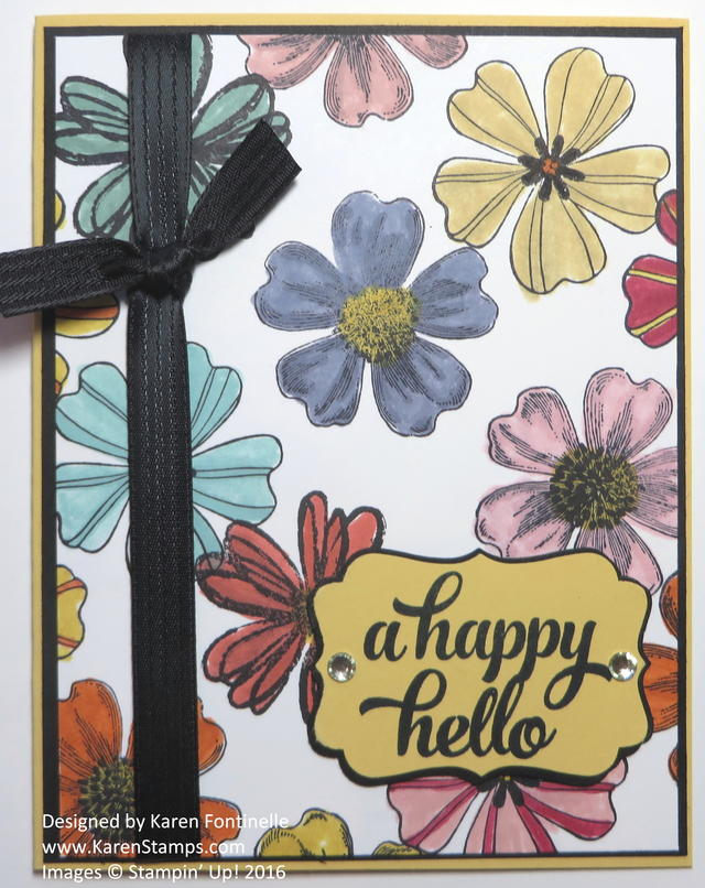 Adult Coloring Flower Shop Card