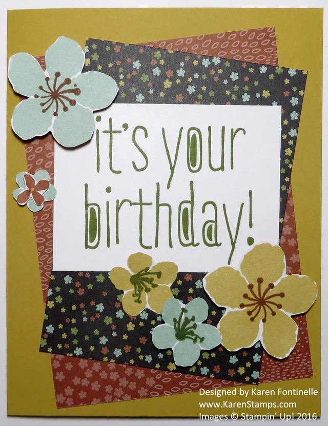 Botanical Gardens Big News Birthday Card