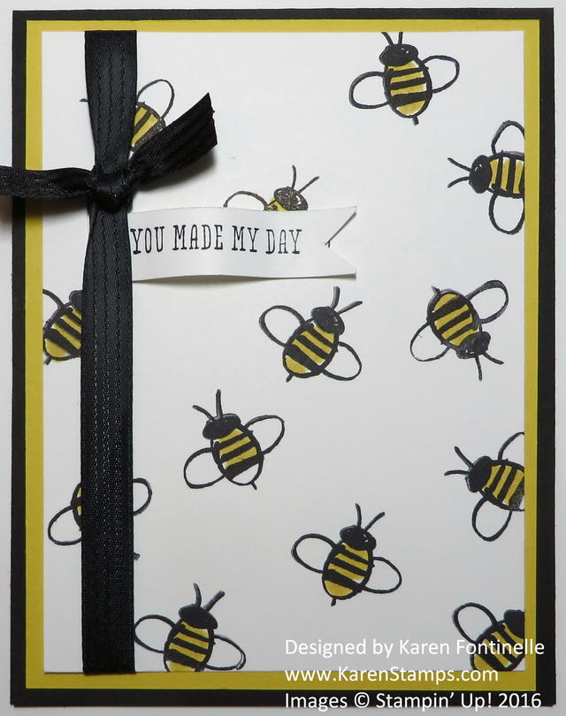 Garden in Bloom Bee Card