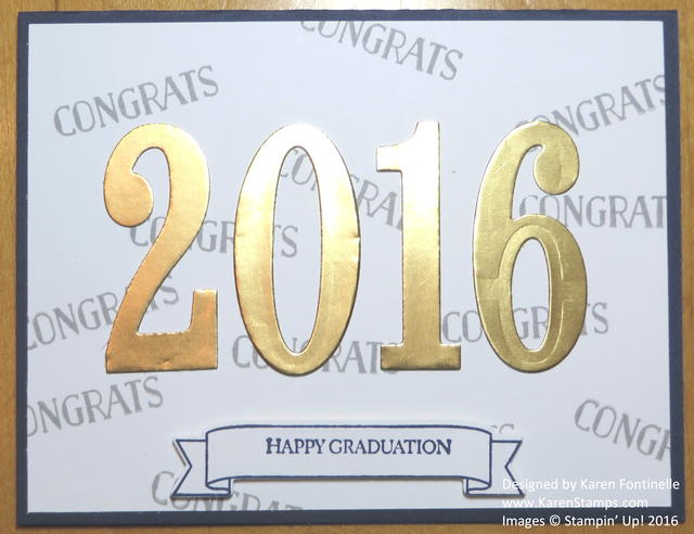 Graduation Congratulations Card with Large Numbers Framelits