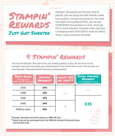 Stampin' Rewards Extra June 2016